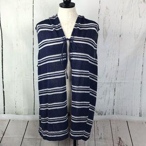 Sejour Nautical Knit Sleeveless Stripe Cardigan